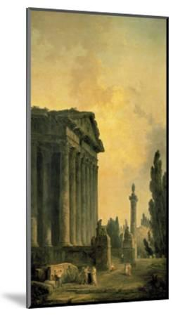 Temple Ruins-Hubert Robert-Mounted Premium Giclee Print
