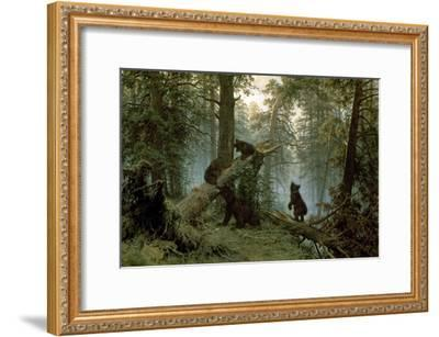 Morning in a Pine Forest-Ivan Ivanovitch Shishkin-Framed Premium Giclee Print