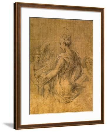 Lady with Angels-Parmigianino-Framed Premium Giclee Print