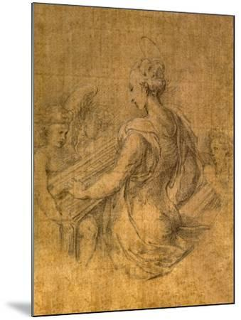 Lady with Angels-Parmigianino-Mounted Premium Giclee Print
