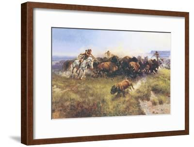The Buffalo Hunt No. 39-Charles Marion Russell-Framed Premium Giclee Print