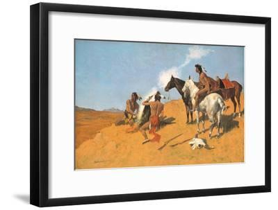The Smoke Signal-Frederic Sackrider Remington-Framed Premium Giclee Print