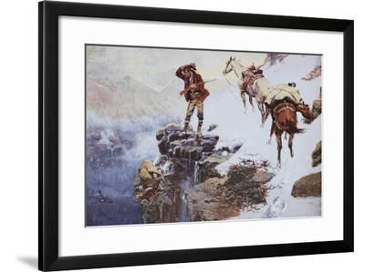 Meat's not Meat 'Til It's in the Pan-Charles Marion Russell-Framed Premium Giclee Print