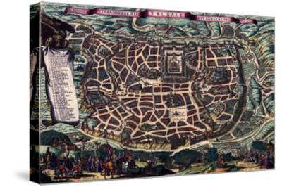 Solomon's Temple - Jerusalem-Braun Hogenberg-Stretched Canvas Print
