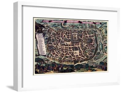 Solomon's Temple - Jerusalem-Braun Hogenberg-Framed Art Print