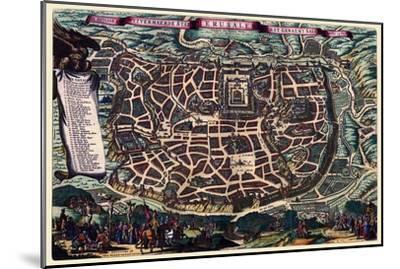 Solomon's Temple - Jerusalem-Braun Hogenberg-Mounted Art Print