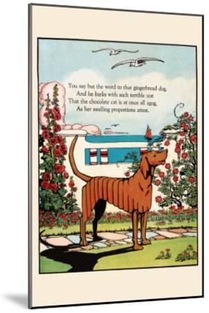 Gingerbread Dog-Eugene Field-Mounted Art Print