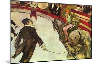 In The Circus-Henri de Toulouse-Lautrec-Mounted Art Print