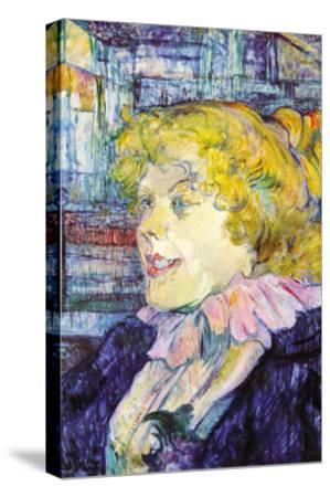 Portrait of Miss Dolly-Henri de Toulouse-Lautrec-Stretched Canvas Print