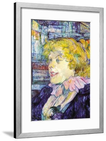 Portrait of Miss Dolly-Henri de Toulouse-Lautrec-Framed Art Print