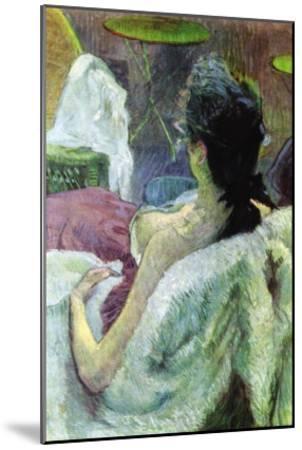 Resting Model-Henri de Toulouse-Lautrec-Mounted Art Print