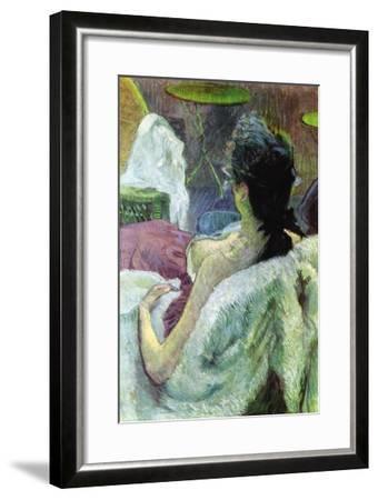 Resting Model-Henri de Toulouse-Lautrec-Framed Art Print