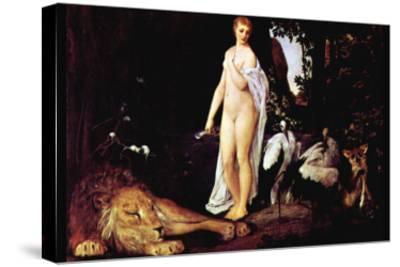 Fable-Gustav Klimt-Stretched Canvas Print