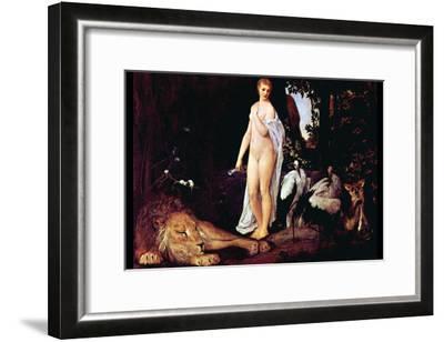 Fable-Gustav Klimt-Framed Art Print