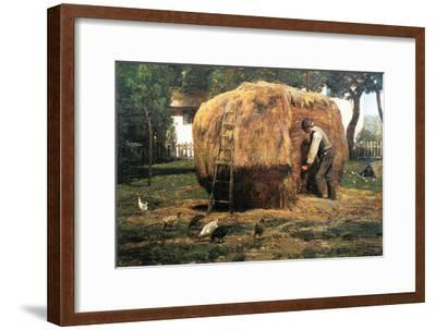 Barnyard-Childe Hassam-Framed Art Print