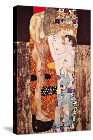 The Three Ages of a Woman-Gustav Klimt-Stretched Canvas Print