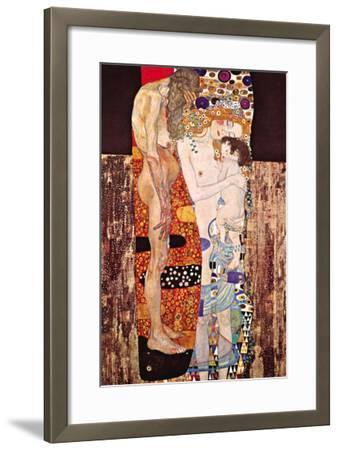 The Three Ages of a Woman-Gustav Klimt-Framed Art Print