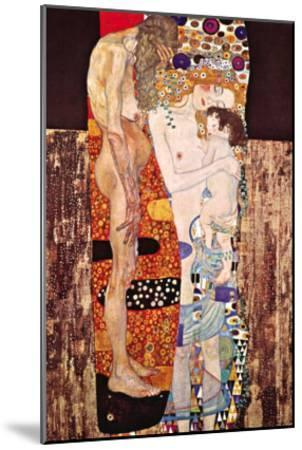 The Three Ages of a Woman-Gustav Klimt-Mounted Art Print