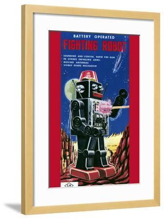Fighting Robot--Framed Art Print