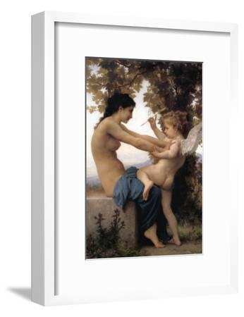 A Young Girl Defending Herself Against Eros-William Adolphe Bouguereau-Framed Art Print