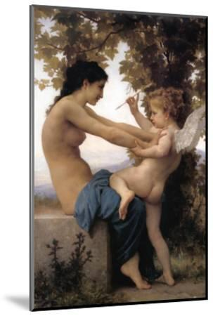 A Young Girl Defending Herself Against Eros-William Adolphe Bouguereau-Mounted Art Print