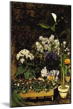 Mixed Spring Flowers-Pierre-Auguste Renoir-Mounted Art Print