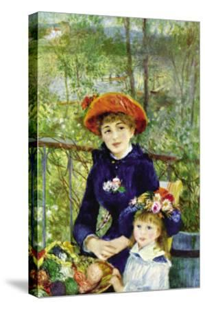 On The Terrace-Pierre-Auguste Renoir-Stretched Canvas Print