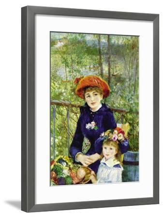 On The Terrace-Pierre-Auguste Renoir-Framed Art Print