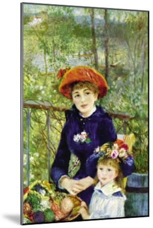 On The Terrace-Pierre-Auguste Renoir-Mounted Art Print