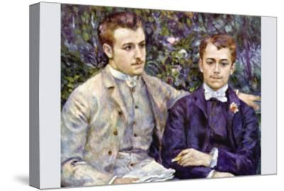 Portrait of Charles and George-Pierre-Auguste Renoir-Stretched Canvas Print