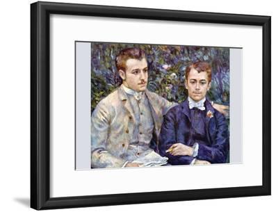 Portrait of Charles and George-Pierre-Auguste Renoir-Framed Art Print
