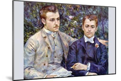 Portrait of Charles and George-Pierre-Auguste Renoir-Mounted Art Print