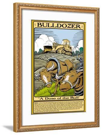 Bulldozer-Wilbur Pierce-Framed Art Print
