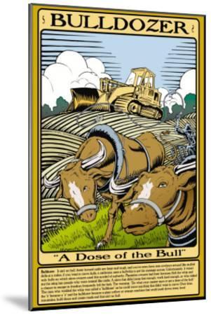 Bulldozer-Wilbur Pierce-Mounted Art Print