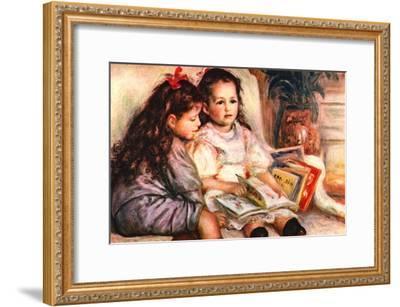 Portrait of Jean and Genevieve Caillebotte-Pierre-Auguste Renoir-Framed Art Print