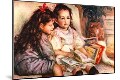 Portrait of Jean and Genevieve Caillebotte-Pierre-Auguste Renoir-Mounted Art Print