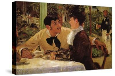 P� Lathuille-Edouard Manet-Stretched Canvas Print