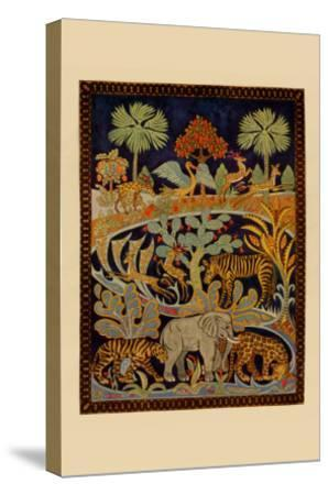 Animal Tapestry--Stretched Canvas Print