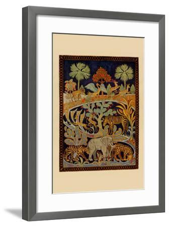 Animal Tapestry--Framed Art Print