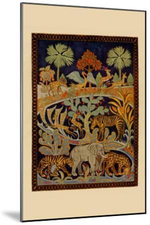 Animal Tapestry--Mounted Art Print