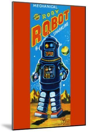 Roby Robot--Mounted Art Print