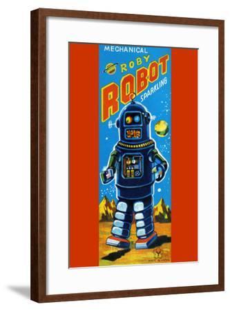 Roby Robot--Framed Art Print