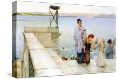 A Kiss-Sir Lawrence Alma-Tadema-Stretched Canvas Print