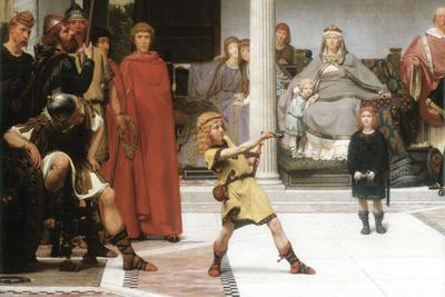 The Education of Children Clovis, Detail-Sir Lawrence Alma-Tadema-Stretched Canvas Print