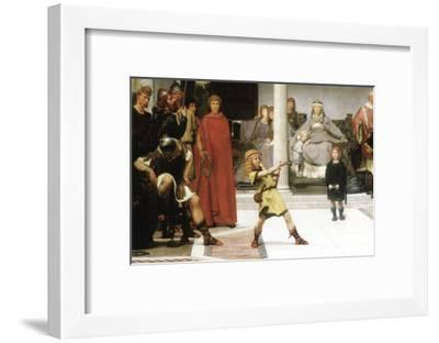 The Education of Children Clovis, Detail-Sir Lawrence Alma-Tadema-Framed Art Print