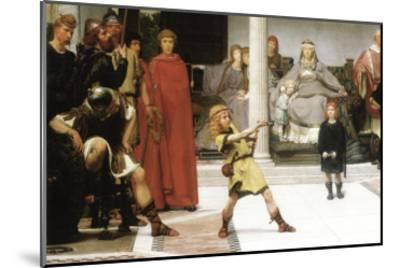 The Education of Children Clovis, Detail-Sir Lawrence Alma-Tadema-Mounted Art Print