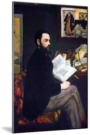 Portrait of Emile Zola-Edouard Manet-Mounted Art Print