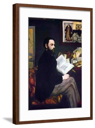 Portrait of Emile Zola-Edouard Manet-Framed Art Print