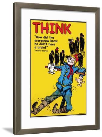 Think-Wilbur Pierce-Framed Art Print