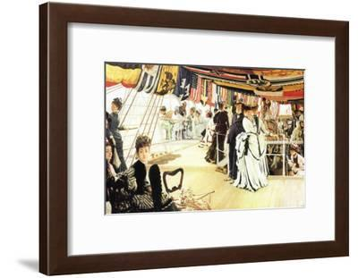 Ball On Board-James Tissot-Framed Art Print